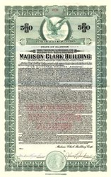 Madison Clark Building - Gold Bond - Chicago, Illinois 1927