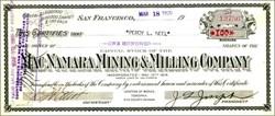 Mac Namara Mining & Milling Company - Nye. Tonopah