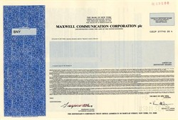 Maxwell Communication Corporation, PLC - ADR  ( Famous Fraud founded by Robert Maxwell) - England 1990