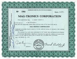 Mag-tronics Corporation - Minnesota 1961