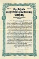 Majestic Copper Mining and Smelting Company - Utah / Colorado 1904