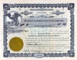 Madison Farmers' Elevator Company 1934