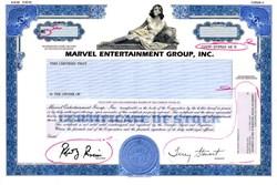 Marvel Entertainment Group, Inc. Specimen Proof (Marvel Comics)  - Delaware 1991