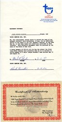 Mark Fidrych Player Contract with Topps Chewing Gum Company  - 1980