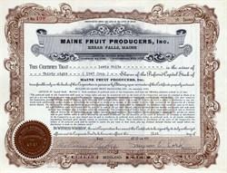 Maine Fruit Producers, Inc. - Kezar Falls,  Maine 1949