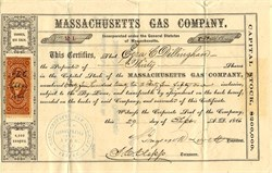 Massachusetts Gas Company - Massachusetts 1866