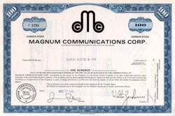 Magnum Communications Corporation 1970