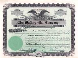 Mallory Hat Company - 1946 Danbury, Connecticut