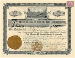 Maid of Orleans, Oil, Chemical, Mine and Developing Company 1901 - New Orleans