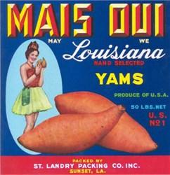 Mais Oui (May We) Louisiana Brand Yams Label