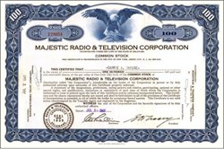 Majestic Radio & Television Corporation 1947