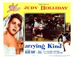 The Marrying Kind Lobby Card Starring Judy Holliday, Aldo Ray, and Madge Kennedy - 1952