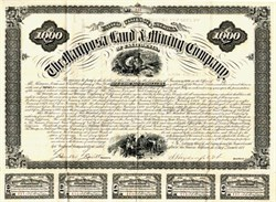 Mariposa Land and Mining Company $1,000 Bond signed by Solomon Heydenfeldt - San Francisco, California 1875