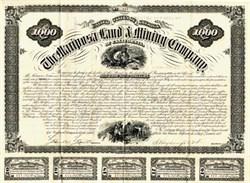 Mariposa Land and Mining Company $1,000 Bond - San Francisco, California 1875