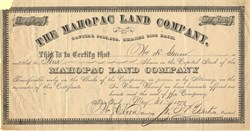 Mahopac Land Company - Putnam County, New York 1877