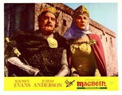 Macbeth Lobby Card Starring Maurice Evans and Judith Anderson