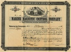 Marine Magnetic Control Company - New York 1905