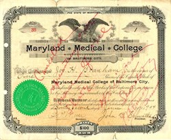 Maryland Medical College - Maryland 1904