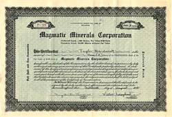 Magmatic Minerals Corporation signed by Victor Lougheed - Delaware 1941