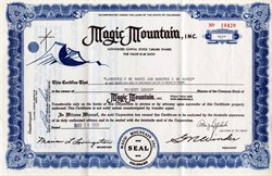 Magic Mountain Inc  - Denver, Colorado 1959
