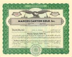 Mancos Canyon Gold Inc - Colorado