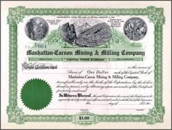 Manhattan - Carson Mining & Milling Company 1906 - Carson City, Nevada