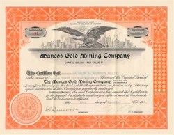 Mancos Gold Mining Company -Colorado