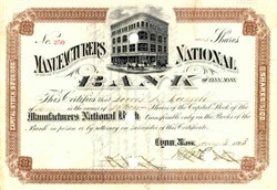 Manufacturers National Bank 1893