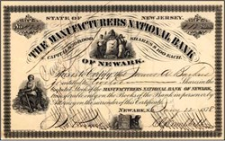 Manufacturers National Bank of Newark 1878