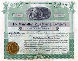 Manhattan Russ Mining Company 1906 - Territory of Arizona