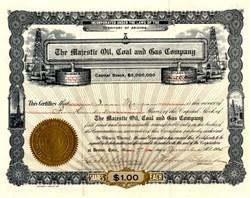 Majestic Oil, Coal and Gas Company - Arizona 1905