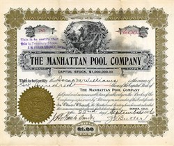 Manhattan Pool Company - Nevada. Nye. Manhattan - Incorporation in Territory of Arizona 1906