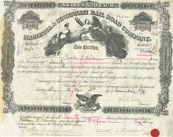 Marietta & Cincinnati Rail Road Company 1879
