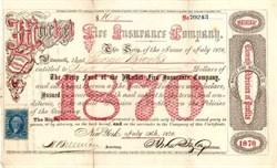 Market Fire Insurance Company 1868-1871 - New York