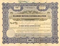 Marsh Mines Consolidated 1916 - Washington