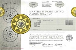 Martha Stewart Living Omnimedia, Inc. - Martha Stewart as Chairman
