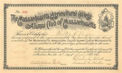 Massachusetts Agricultural College Alumni Club of Massachusetts 1891 ( University of Massachusetts )