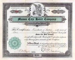 Mason City Hotel Company 1922