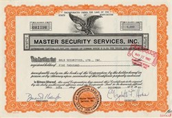 Master Security Services, Inc. - Washington 1981