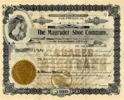 Magruder Shoe Company - Baltimore City, Maryland 1898
