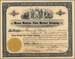 Mason Multiple Plate Washer Company 1908
