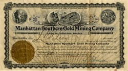 Manhattan Southern Gold Mining Company - Arizona 1906