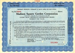 Madison Square Garden Corporation (Listed Trustees George L. Rickard, John Ringling, John P.  Maguire, Richard F. Hoyt and George W. Walker) - New York  1925