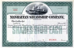 Manhattan Steamship Company - 1900
