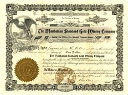 Manhattan Standard Gold Mining Company - Arizona 1906 - Goldfield, Esmeralda Co., NV