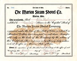 Marion Steam Shovel Co. (Used to build Panama Canal) - 1910