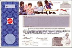 Mattel Toy Company (Color Picture and Barbie Vignette) - Specimen