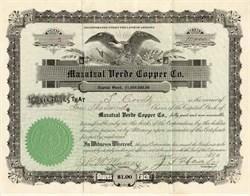Mazatzal Verde Copper Company - Arizona 1917