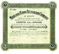 Marconi Radio Telegraph Company of Egypt - 1926