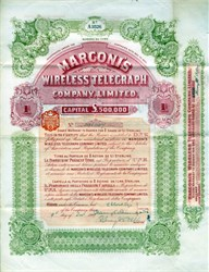 Marconi's Wireless Telegraph Company, Limited - 1907